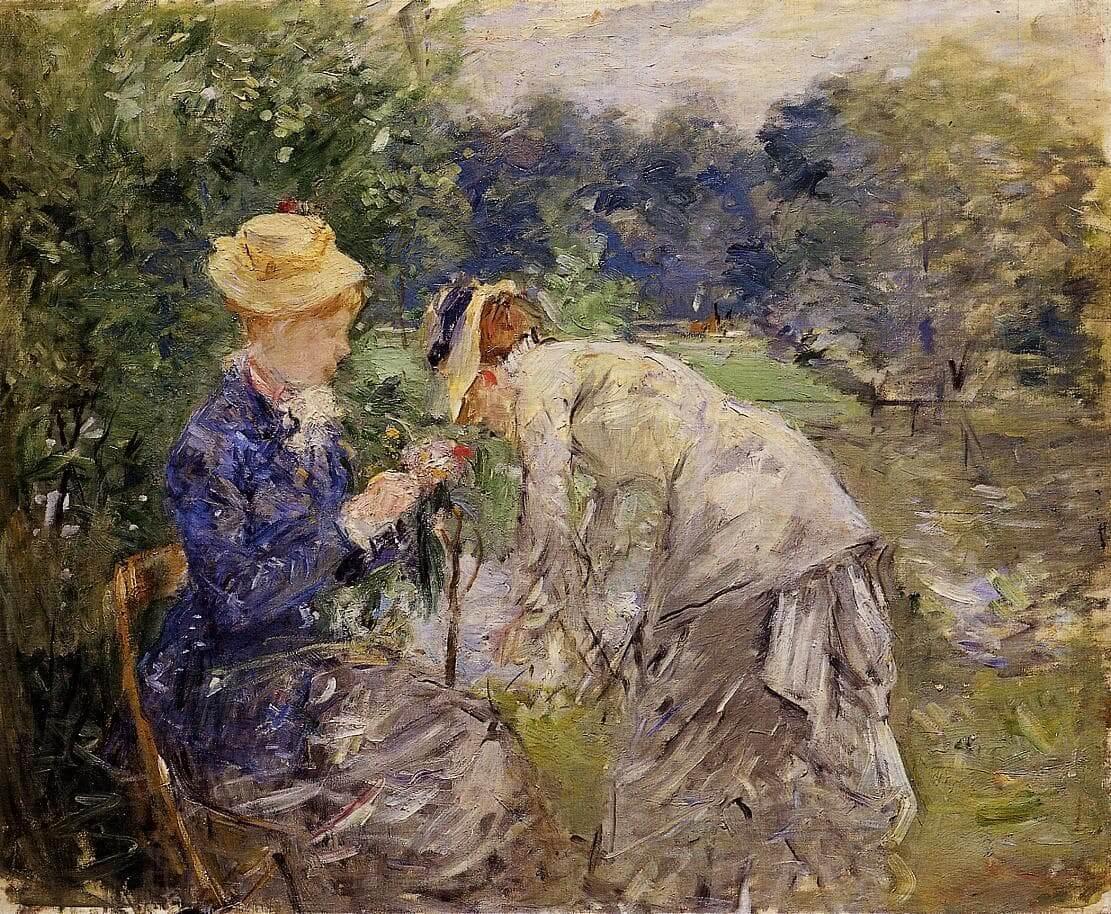 « Dans le bois de Boulogne » par Berthe Morisot