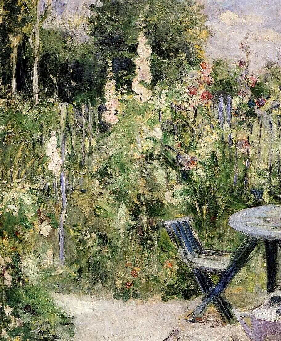 « Rose trémières » par Berthe Morisot