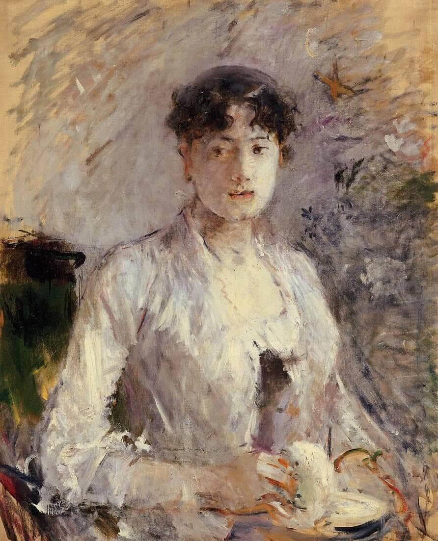 « Jeune femme en mauve » par Berthe Morisot